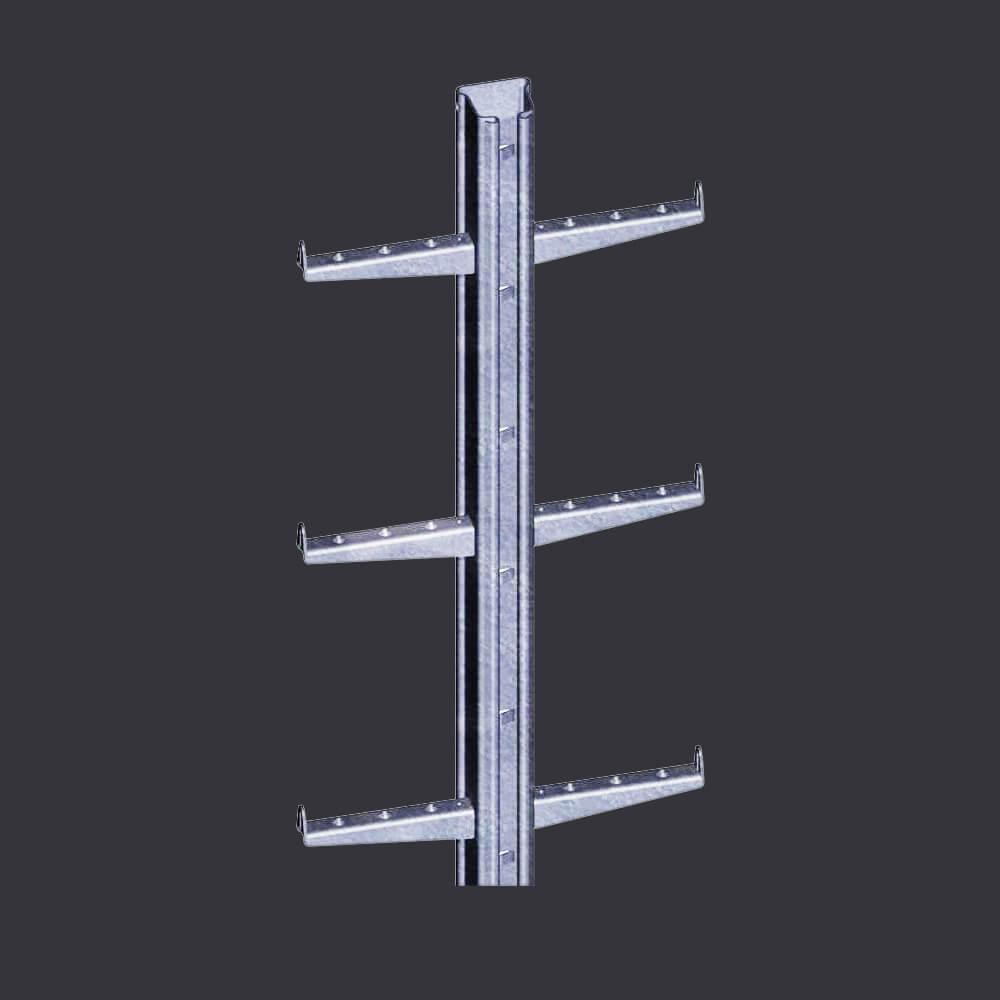 Accen Vertic Rail- szynodrabina- pionowy system asekuracyjny stosowany na drabinach  i pionowych ciągach komunikacyjnych