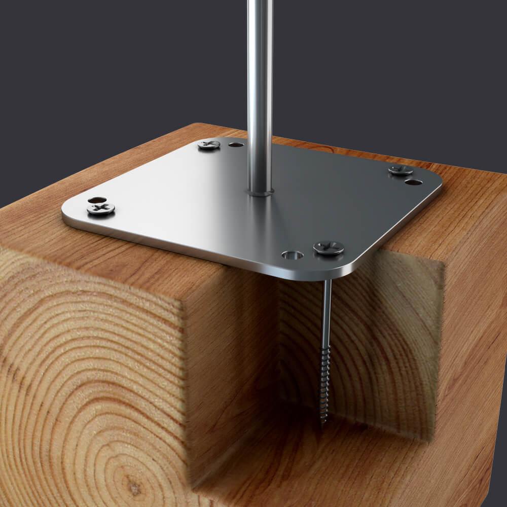 Ochrona indywidualna dla trzech osób- Punkt kotwiczący Trax BX D- mocowanie do konstrukcji drewnianych
