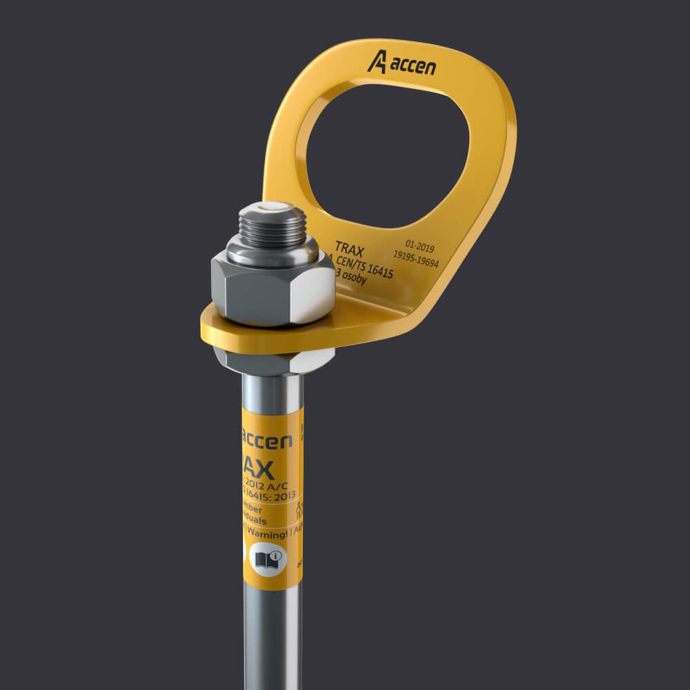 Accen- Punkt kotwiczący dla trzech osób Trax BX ST- mocowanie do konstrukcji stalowych