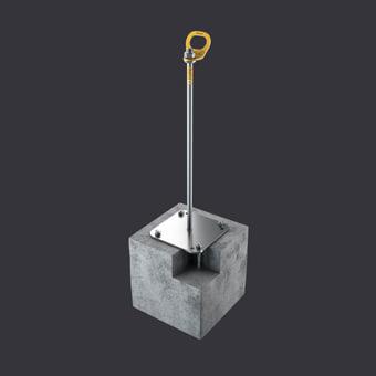 Punkt kotwiczący Trax BX-ochrona dla trzech osób- mocowanie: podłoża żelbetowego, płyty korytkowe, płyty kanałowe
