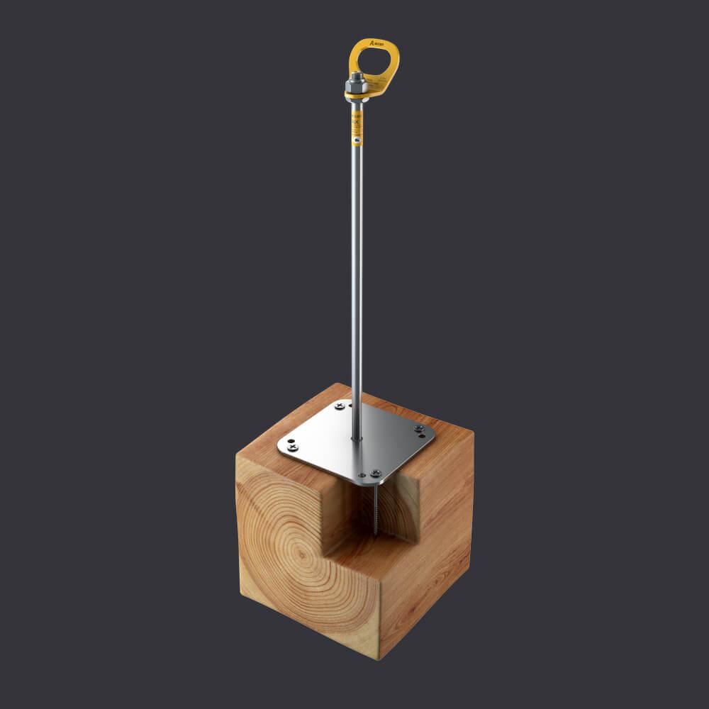 Accen- Punkt kotwiczący dla trzech osób Trax BX D- mocowanie do konstrukcji drewnianych