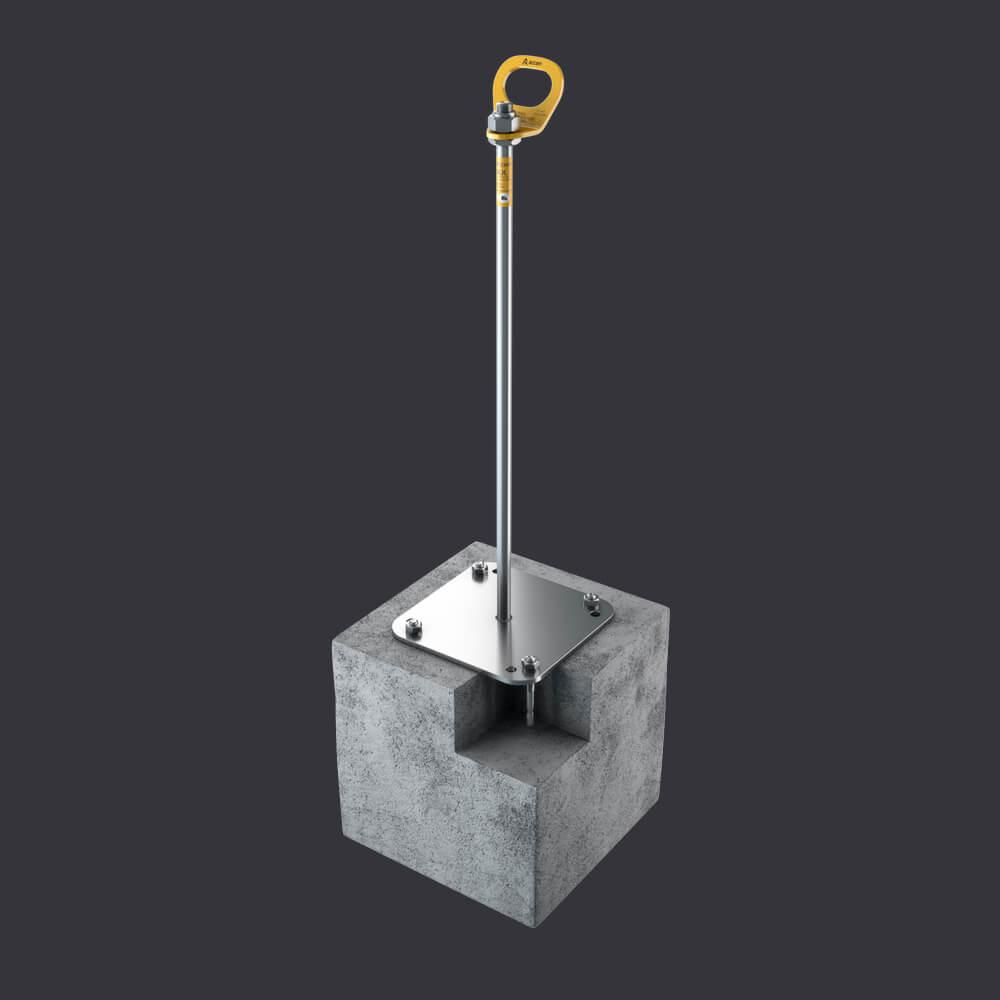Accen Trax BX- punkt kotwiczący-mocowanie: podłoża żelbetowego, płyty korytkowe, płyty kanałowe
