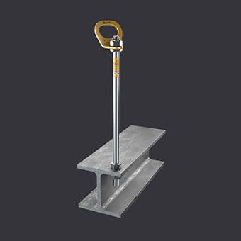 Punkt kotwiczący Trax ST-ochrona dla trzech osób- mocowanie do konstrukcji stalowych