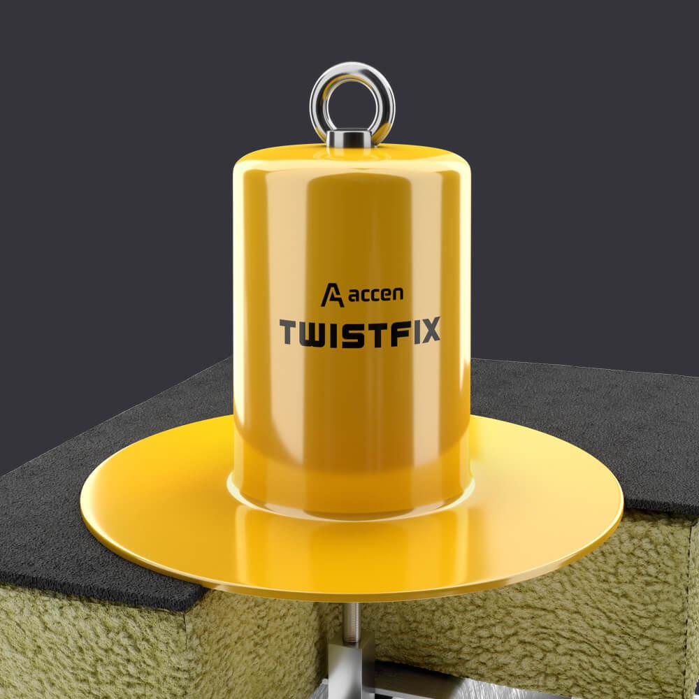 Accen- Punkt kotwiczący dla dwóch osób Twist FIX- montaż płaski dach z izolacją termiczną