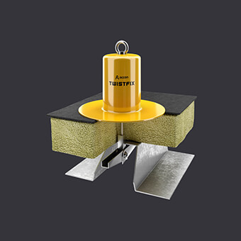 Punkt kotwiczący Twist FIX-ochrona dla dwóch osób- płaski dach z izolacją termiczną