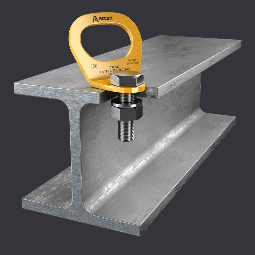 Punkt kotwiczący Trax Light ST-systemy asekuracyjne dla jednej osoby- mocowanie do konstrukcji stalowych