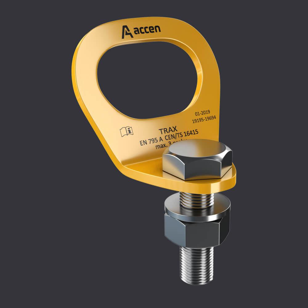Accen Trax Light ST- punkt kotwiczacy dla jednej osoby- mocowanie do konstrukcji stalowych