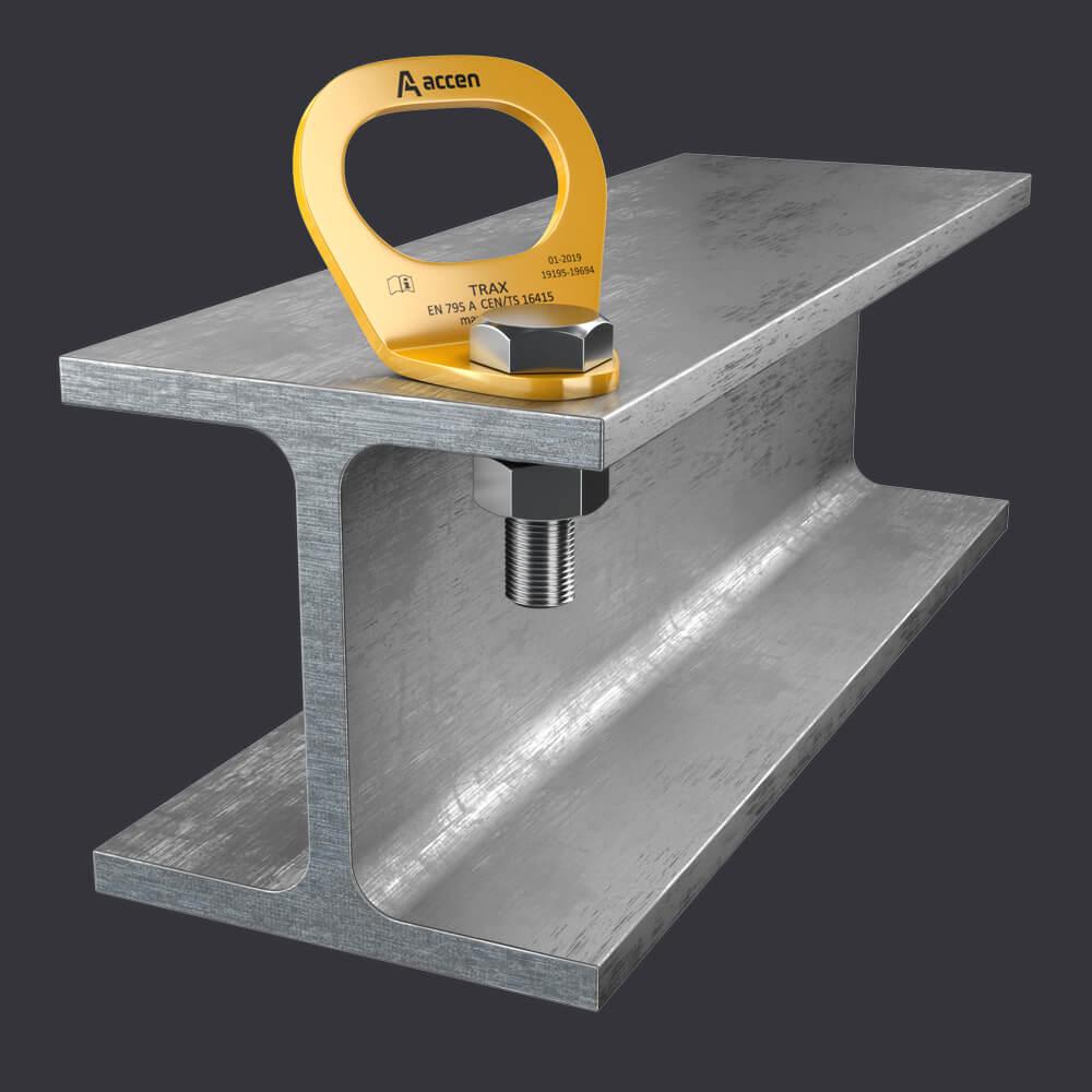 System ochrony indywidualnej Trax Light ST- punkt kotwiczące do konstrukcji stalowych