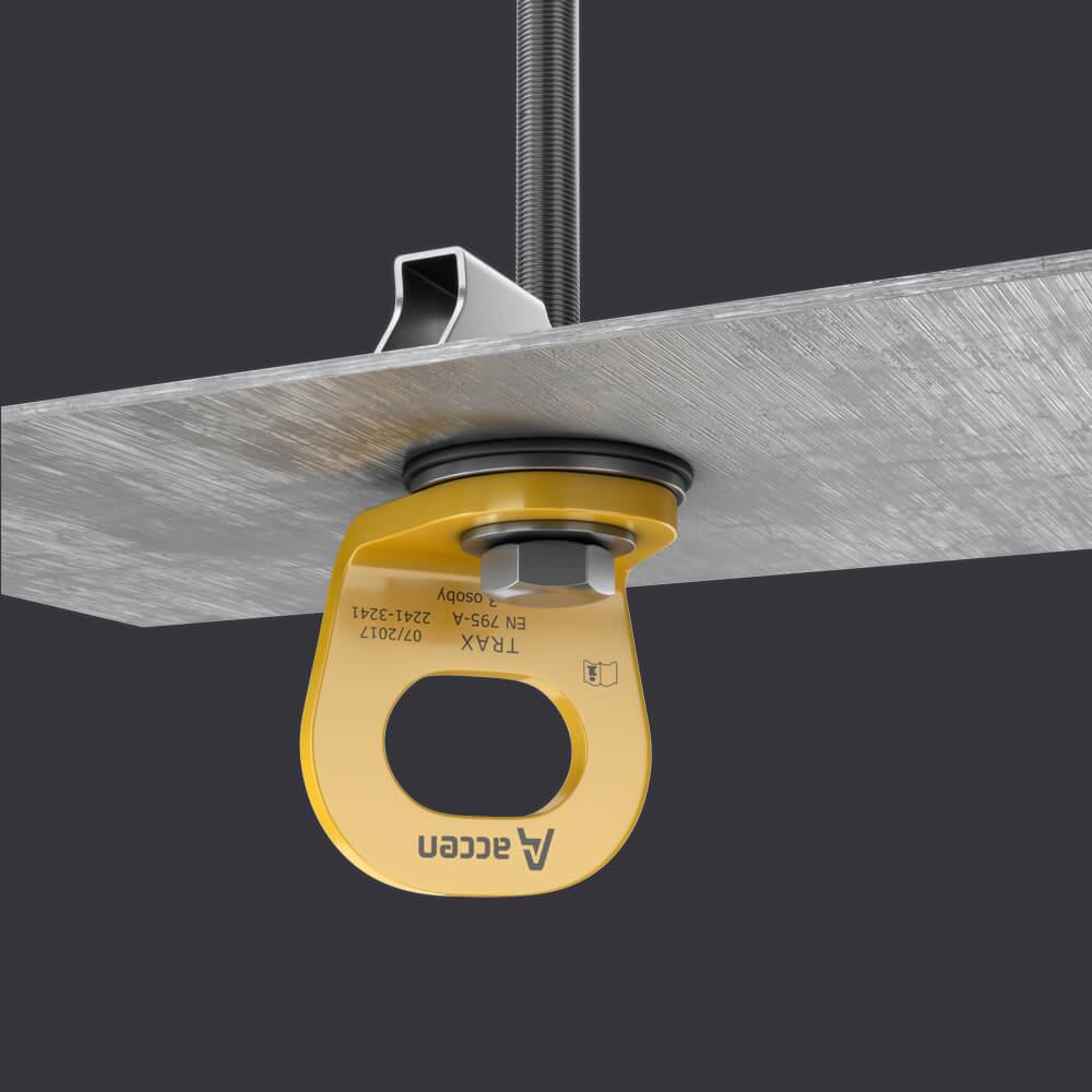 System ochrony indywidualnej TRAX LIGHT TR- punkt kotwiczące na blachach trapezowych