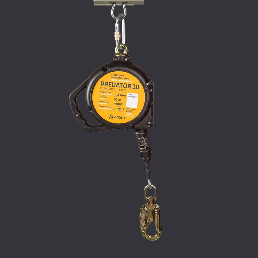 Urządzenie samohamowne Predator 10- system asekuracji automatycznej do 10m