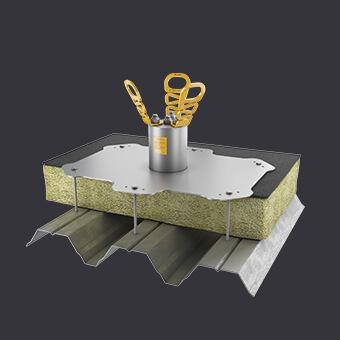 Asekuracja na dachu- punkt kotwiczący BIG AXIS TR - bez perforacji poszycia